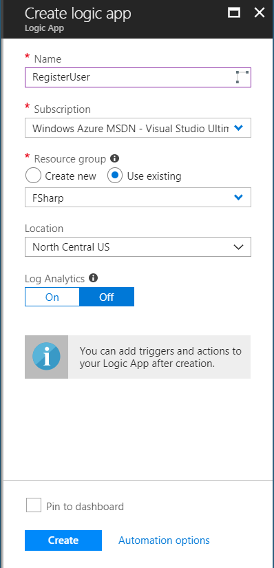 Register User Workflow with Azure Logic Apps (part 1) - THE BLIND